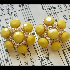 Jewelry - Yellow clip on earrings